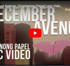 December Avenue – Eroplanong Papel